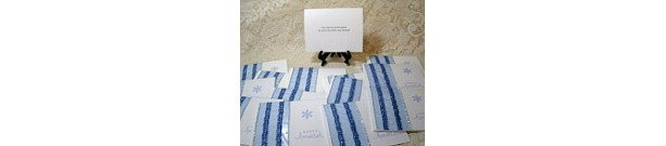 "1/2 PRICE CARD SALE!! Set of 26 ""Happy Hanukkah"" cards #4440"
