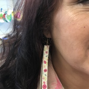 Straight Sassy Printed Leather Earrings