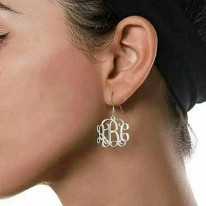 Sterling Silver Monogrammed Earrings