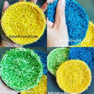 Eco-Friendly face scrubby / pot and pan scrubby / Dish washing scrubby set of 4