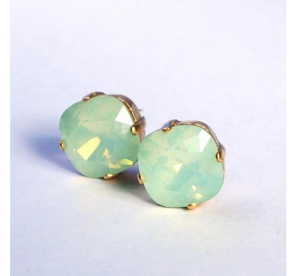Mint Opal Swarovski Crystal Stud Earrings