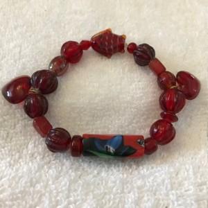 Hearts Ablaze handmade beaded bracelet size fits most wrists