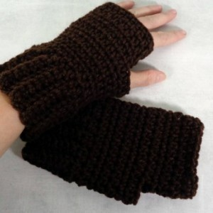 cycling gloves - brown texting gloves - fingerless gloves - texting gloves - driving gloves - biking gloves - brown fingerless - knit gloves