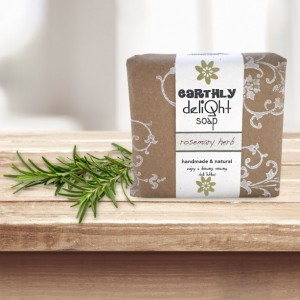 Organic Rosemary Herb Soap Body Bar | THREE 5.5 oz. Bars
