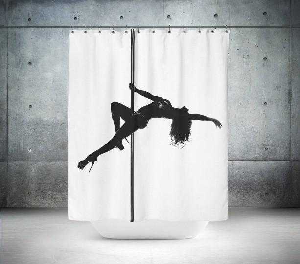 Pole Dancer Shower Curtain