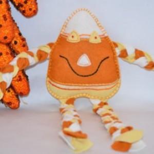 Candy corn Man Organic Stuffed Felt Toy Fall Decoration Halloween