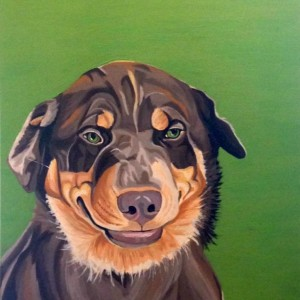 "Rex - Custom Dog Portrait 20"" x 24"" x 1.5"""
