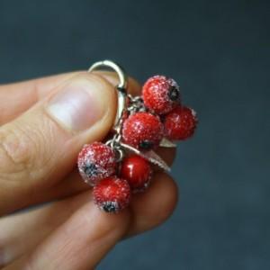 Glass Earrings - Red Berries