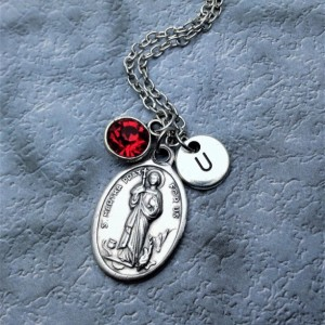 Personalized Saint Martha Necklace. Patron Saint of Hospitality