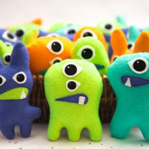Set of 3 Adopt a Monster Plush. Mini Stuffed Monster Party Favors. Felt Monsters. Monster Theme Party. Monster Bash. Monster 1st birthday
