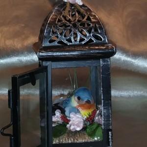 Spring Bird metal Lantern