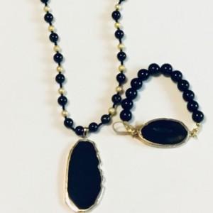Black & Gold Necklace Set