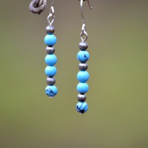 Silver Magnesite Earrings