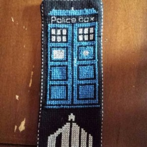 Doctor Who Cross Stitch Bookmark