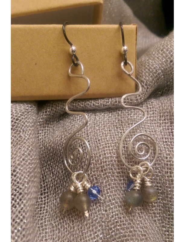 Spiral Path Earrings