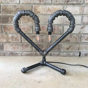 Industrial Heart Lamp - FREE SHIPPING
