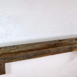 "Reclaimed wood wall shelf 30 wide 3.25""deep stunning colors"