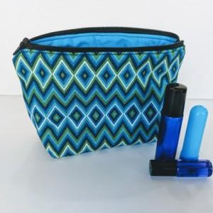 Essential Oil Bag, Essential Oil Travel Case, Essential Oil Pouch, Essential Oil Storage, Roller Ball Bag, Zig Zag Bag,