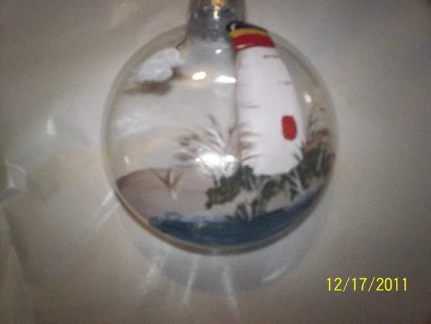 Lighthouse ornament handpainted