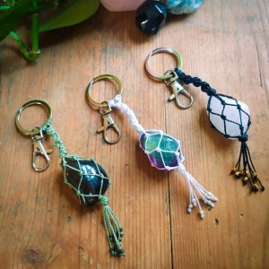 SNOW QUARTZ handmade keychain | best friend gift | boho keychain | crystal keychain | mother's day  | crystal gift | crystal