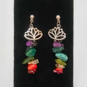 Rainbow Lotus Earrings