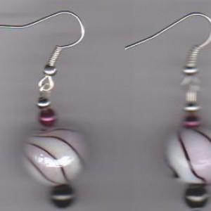 Rose Swirl Pierced Earrings