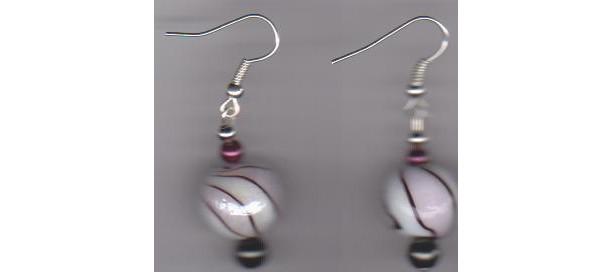 Rose Swirl Pierced Earrings