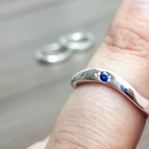 Sapphire Wedding Ring, Alternative Wedding Rings, Single Stone Wedding Band, Wedding Ring, Silver Ring, Midi Ring, Promise Ring
