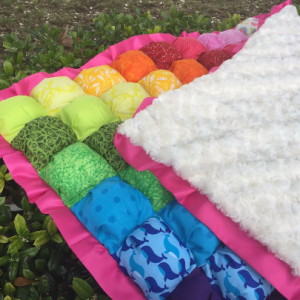 Rainbow Bubble Blanket