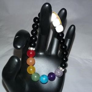 7 Chakra Healing Gemstones w/Lava Stone Diffuser Bracelet
