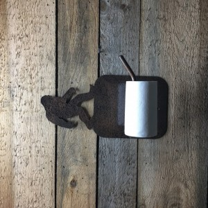 Toilet Paper Holder, Wall Mounted Toilet Paper Holder, Metal Art, Wall Art, Metal Wall Art, Bear Toilet Roll Holder, Toilet Paper Roller