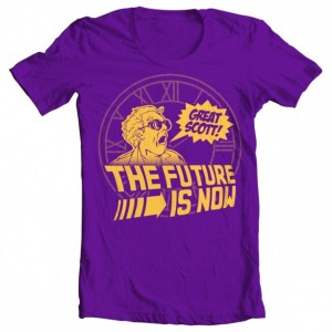 """Girls' Back to the Future """"The Future is Now"""" Tee"""