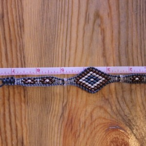 Cedar Trail Bead Works: hand beaded Ivory Picasso Hibiscus Bracelet