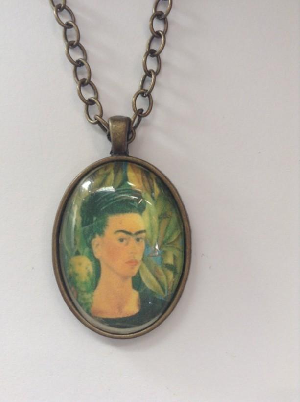 Frida kahlo pendant necklace vintage silver vintage gold frida frida kahlo pendant necklace vintage silver vintage gold frida kahlo inspired necklace aloadofball Gallery