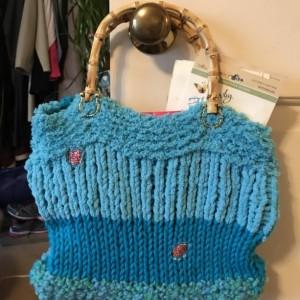 Handknit Tote Bag