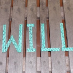 """8"""" Rope Letters Personalize MADE TO ORDER Alphabet Nautical Decor Text Letters Natural or Green Rope Nautical Nursery Beach Western Cowboy"""
