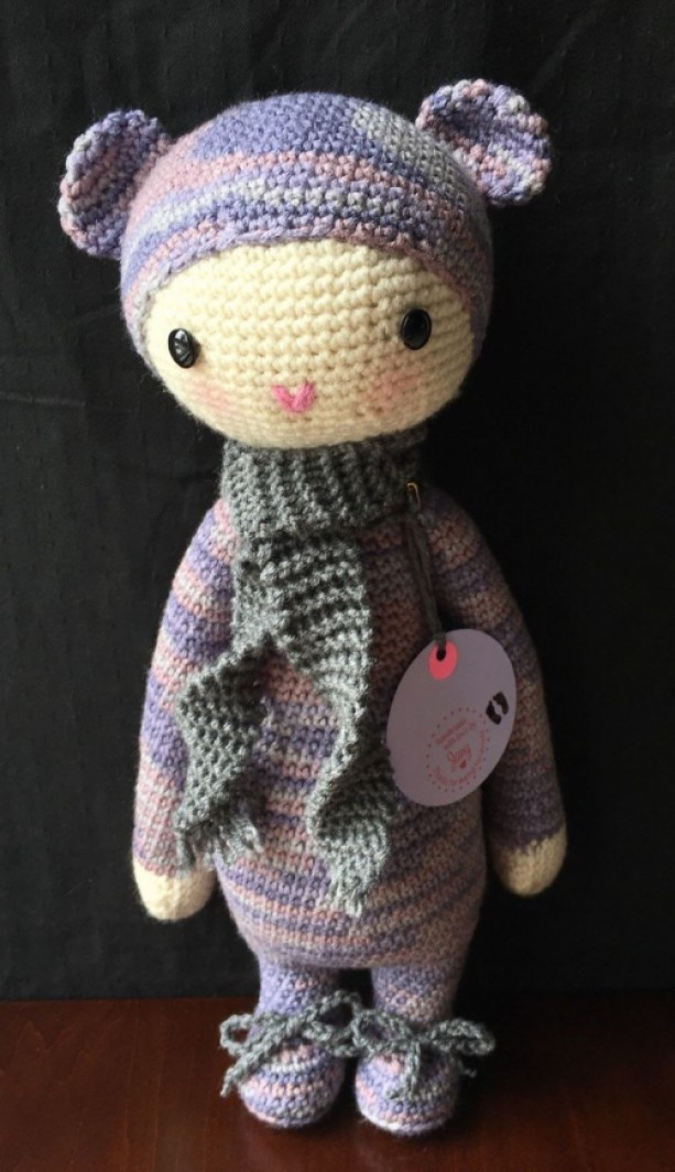Crochet lalylala bear doll