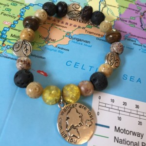 Not all who wonder are lost Aromatherapy Essential Oil Diffuser Bracelet