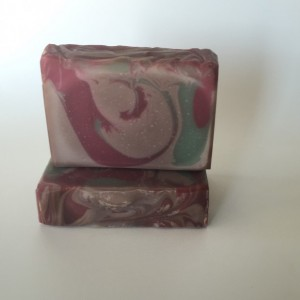 Saucy santa soap peppermint vanilla scented soap handcrafted soap handmade soap for him or her, gifts under 10, soap  sale