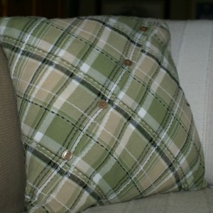 Diagonal Plaid Pillow