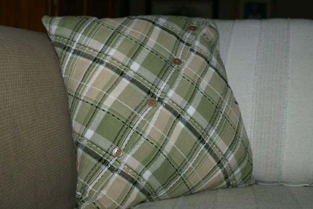 Diagonal Plaid Pillow