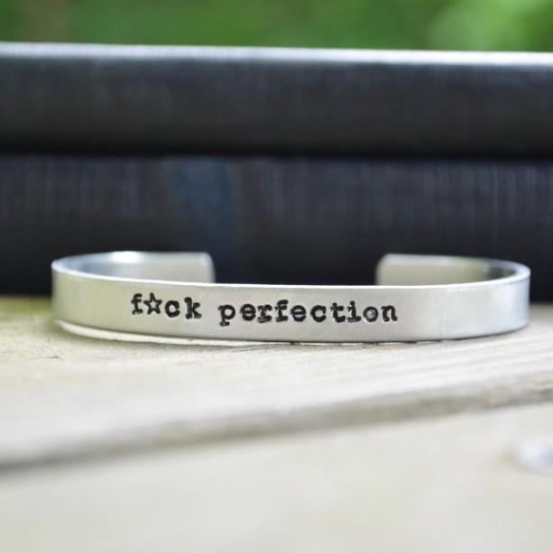 F*ck Perfection Cuff Bracelet