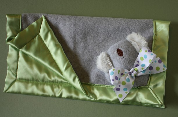 Koala Security Blanket Lovey Blanket Satin Baby Blanket