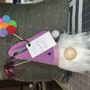 Purple Party Gnome