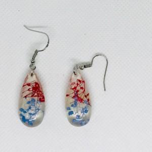 Patriotic earrings, fourth of July earrings,