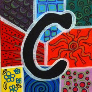 "ALPHABET LETTER ""C"" - Greeting Card By Artist A.V.Apostle"