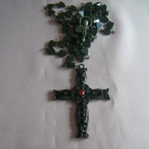 Rosary Beads - Hematite Heart Shaped