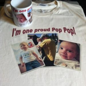 Custom Photo t-shirt and Matching Coffee  mug (11 oz. ceramic).  Great personalized  gift idea!