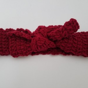 Crochet Side Knot Headband