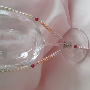 Travel Rosary Beads -Ombre Pearl